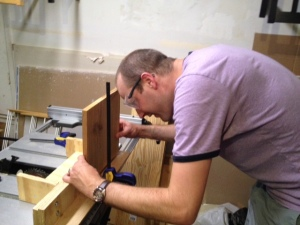 Carl builds a Langstroth beehive brood box
