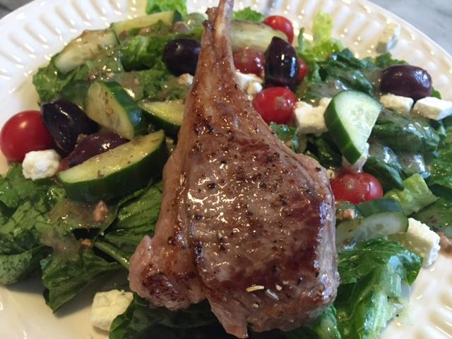 ... 2015: Greek Salad with Rosemary Lamb Lollipop — Mrs. Millennial