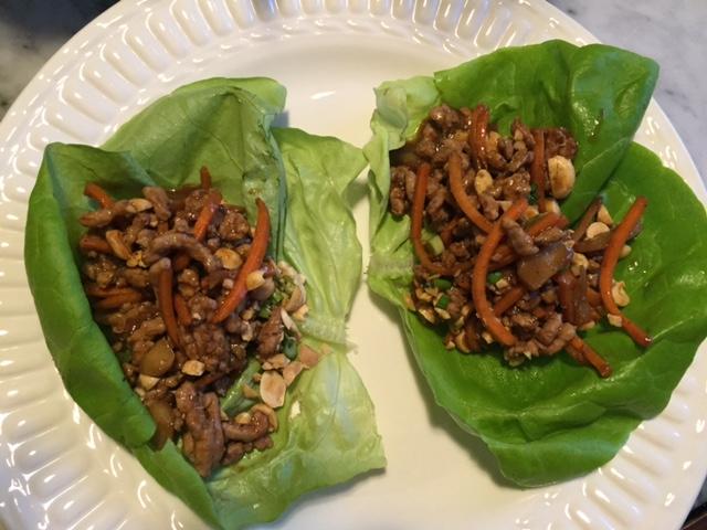 Ground Pork Lettuce Wraps
