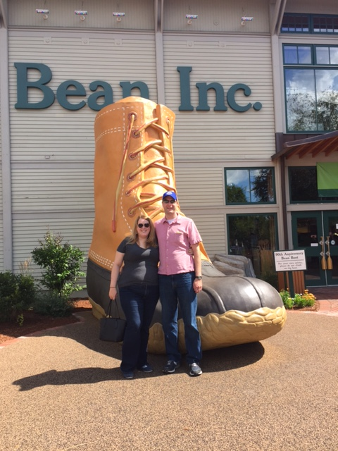 The giant boot at the LL Bean Flagship.
