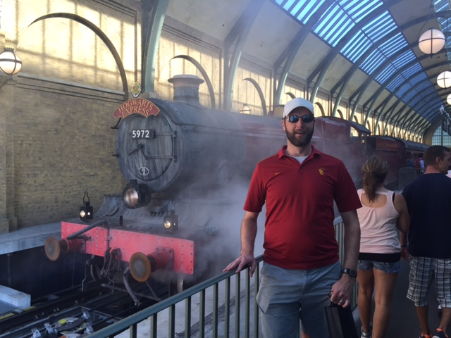 Platform 9 3/4 at the Wizarding World of Harry Potter