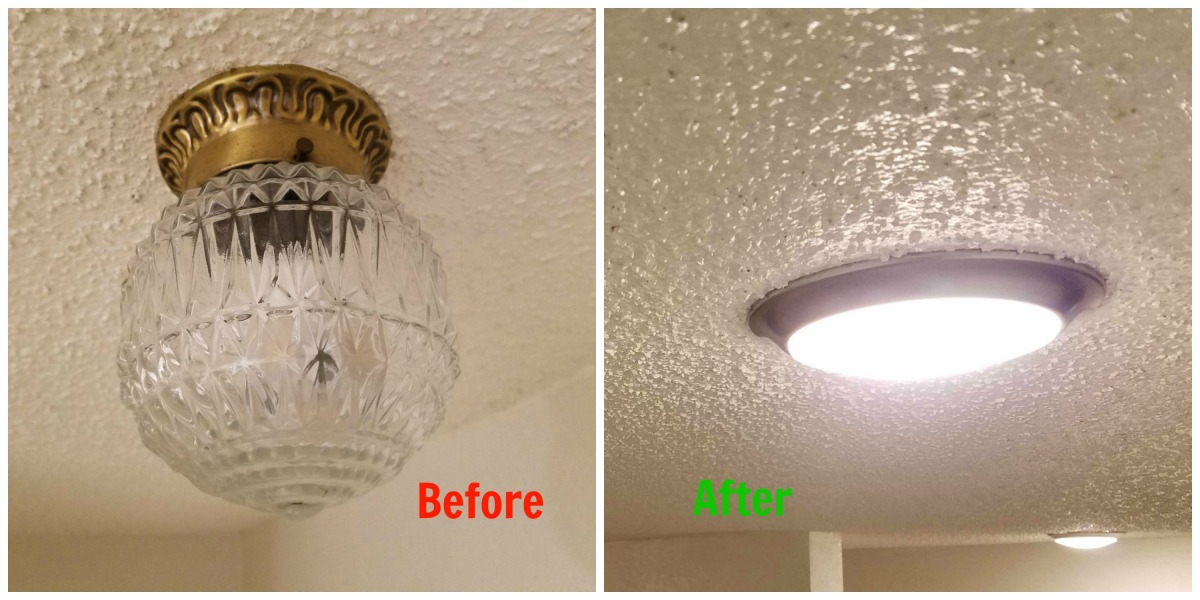 Home Improvement 101: Faking Recessed Lighting