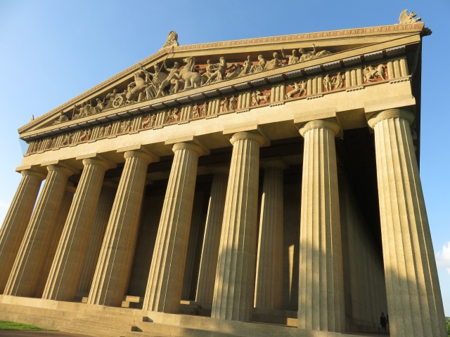 The front of the Parthenon in Centennial Park, Nashville.