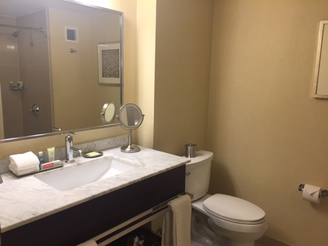 Bathroom at the Hyatt Grand for the San Antonio Cocktail Conference