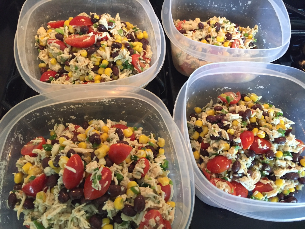 Healthy Make-Ahead Lunch: Southwest Chicken Salad